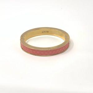 J. Crew Pink Snakeskin Clamp Bracelet